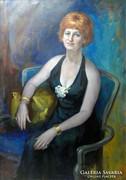 0L783 Giselle Lindenfeld : Női portré 1975