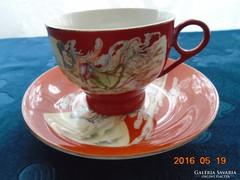 Kínai csészealjal,Szecessziós hölgy mintával