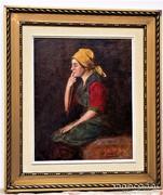Glatter Ármin (1861.1933) Antik olajfestmény Eredeti 68x58cm