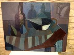 Angyalföldi Szabó Zoltán 60x80 cm olaj farost