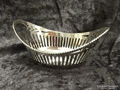 Ezüst miniatűr kosárka