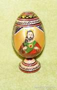 Kézzel festett fa tojás szentkép