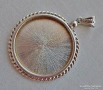 Ritka antik nagy ezüst  fényképtartós medál