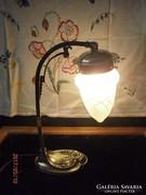 S17-14 szecessziós sárgaréz asztali lámpa