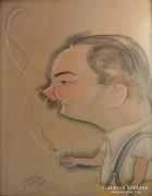 Bíró Antal (1907-1990): Karikatúra,1940