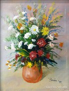 0L895 Benda Zoltán : Virágcsendélet 1997