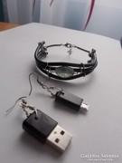 USB-ékszer - Karkötő és fülbevaló