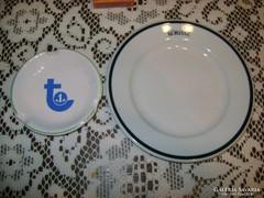 Két darab emblémás gyűjtői porcelán, kerámia
