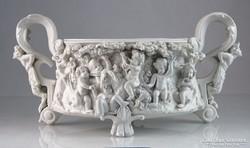 0K232 Faunfejes antik Volkstedter porcelán kaspó