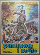 Régi filmplakát - Sámson és Delila
