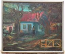 Bottyán János (1925_) Magányosság olajfestménye 76x64cm