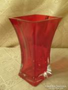 Eredeti Art deco rubint piros unikális váza ritkaság