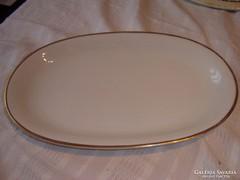 Régi pecsenyés aranycsíkos tányér