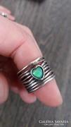 Izraeli 925-ös ezüst gyűrű, opál kővel!