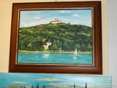 Balatoni táj , Tihanyi apátság-festményvásár