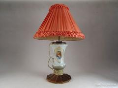 0M073 Régi különleges fújt üveg asztali lámpa