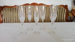 Ajkai ólomkristály pezsgős pohár készlet - eladó!