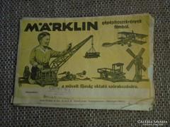 Régi Merklin építőszekrények fémből katalógus
