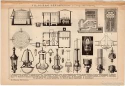 Világítási rendszerek I. és II., egyszín nyomat 1892