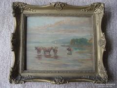 Egerváry Potemkin Ágost (1858-1930)  olaj festménye