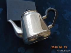 Szovjet orosz ezüstözött alpaka tea kiöntő bakelit fogóval