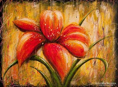 Liliom Festmény 80x60 cm
