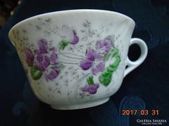 Bécsi ibolyás vastagfalu számozott teás csésze(3)-11x6.5 cm