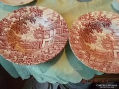 Angol  régi  csodaszép tányér 2 darab