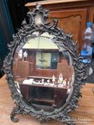 Bronz barokk tükör