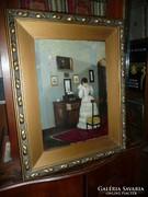 Farkas József antik olaj festménye eladó 70*55 cm