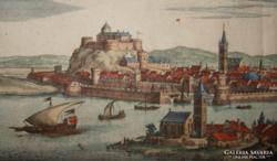 Raguza, Dubrovnik színezett rézkarc  Merian1638