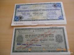 1980-1989 / 50 Rubeles Csekkek