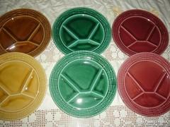Sarreguemines osztott fondue tányér