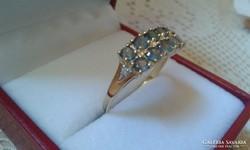 Alexandrit és gyémánt.1.45ct Arany.Tanúsítvány ÚJ!!!!!