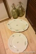 Zsolnay porcelán kerek és ovális kínáló +2 lapos tányér