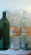 3 db ecetes régi üveg