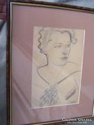 Gyenes Gitta (1888 - 1960) Art-deco hölgy