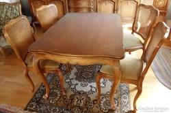 Warrings étkezőasztal 6 székkel