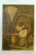Marselek E : Borozgató pap