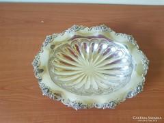 Antik ezüst kínáló-asztalközépz