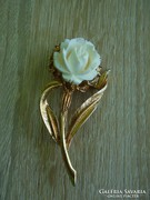Régi rózsás bross