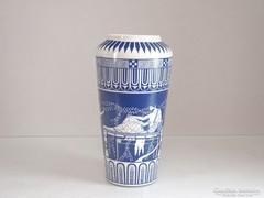 0M295 Mitológiai Hollóházi porcelán váza 25.5 cm