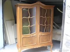 Chippendél vitrines szekrény 120x185x45cm
