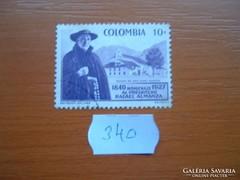 KOLUMBIA COLOMBIA 10 C 1958  Pater Almanza 340.
