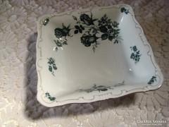 Zsolnay ,régi kék rózsás  salátás tál