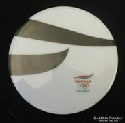 Olimpiai csapat - festett herendi porcelán plakett