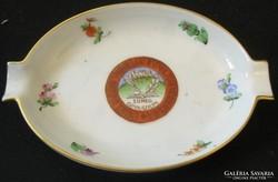 Sümeg - gimnázium - emlék porcelán hamutál