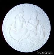 Szerelmesek-Herendi porcelán plakett