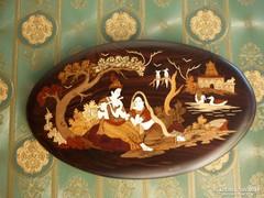 Antik,intarziás indiai fali dísz....