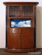 0M517 Antik szecessziós tálaló szekrény 1930